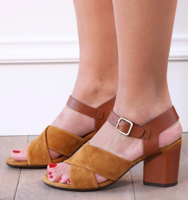 O-OKAY BROWN CHiE MIHARA sandals