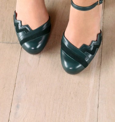 KIDDY DARK GREEN CHiE MIHARA zapatos