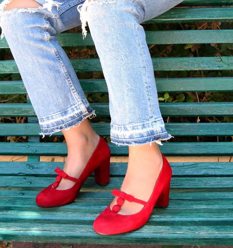 KASSY RED CHiE MIHARA zapatos
