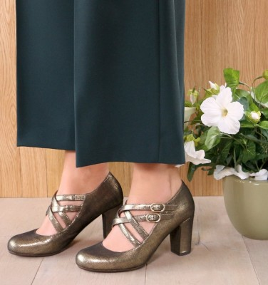 KEFIR GOLD CHiE MIHARA zapatos