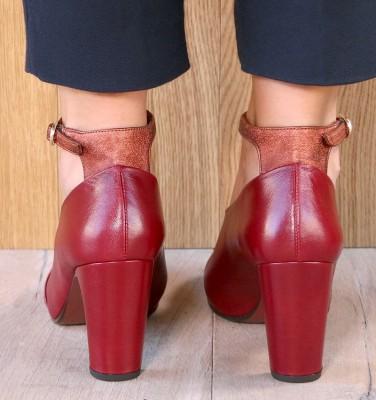 EASY BURGUNDY CHiE MIHARA chaussures
