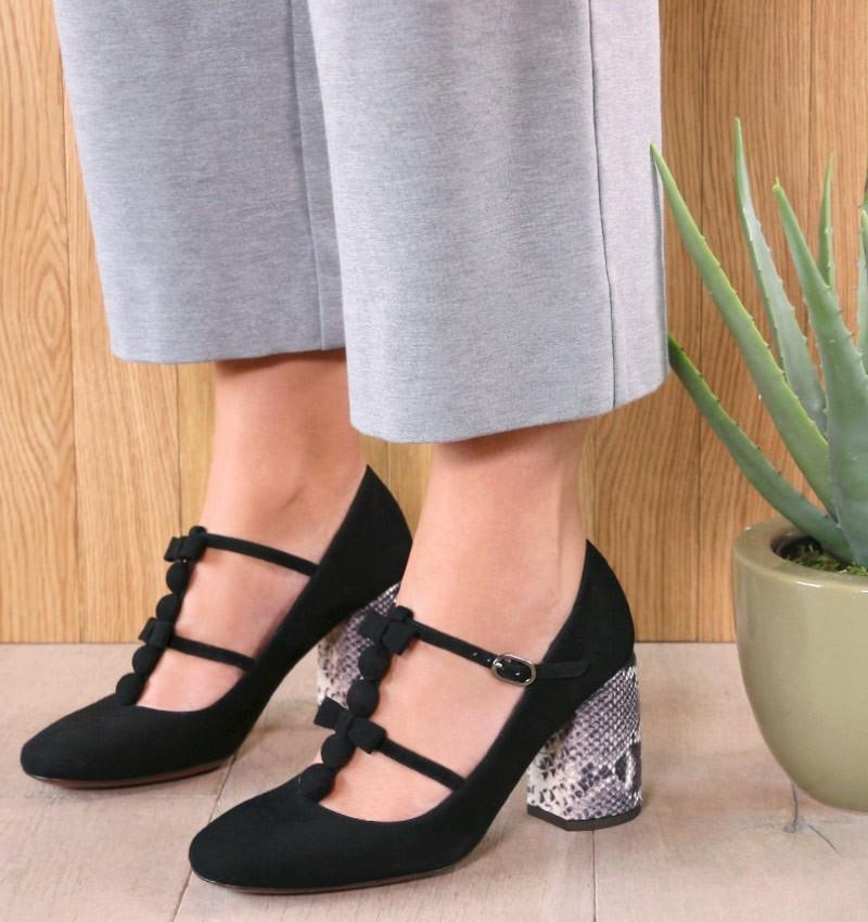 SANJAN BLACK CHiE MIHARA shoes
