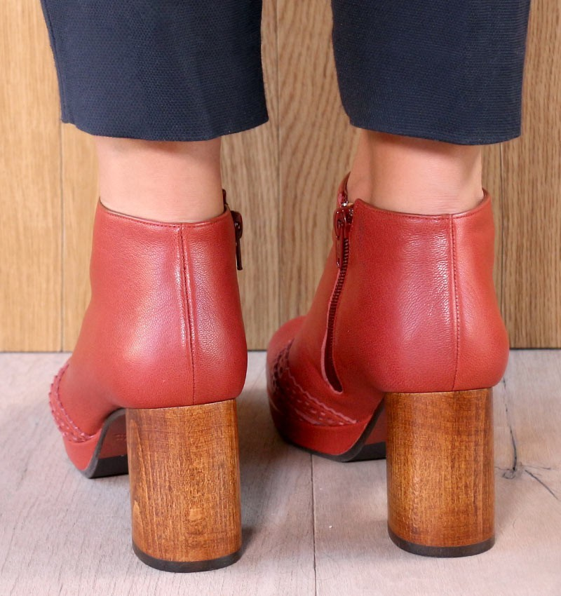 QUICA REDDISH BROWN CHiE MIHARA botas