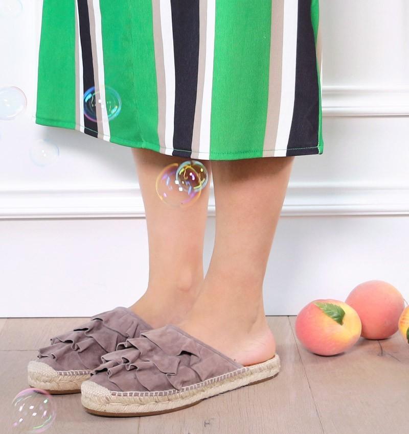 PLEITA TAUPE GREY CHiE MIHARA sandals
