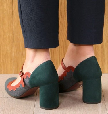 MUDDY DARK GREEN CHiE MIHARA zapatos