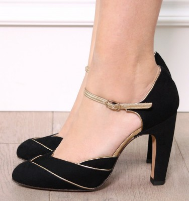 DISHY BLACK GOLD CHiE zapatos