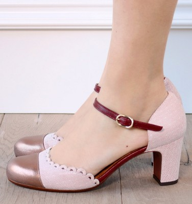 MARGOT BURGUNDY CHiE MIHARA zapatos