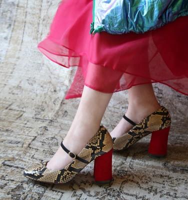 VACHE BEIGE CHiE MIHARA zapatos