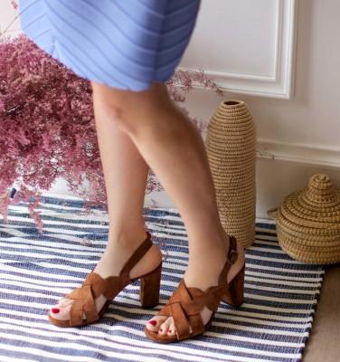 BALBINA-P BROWN CHiE MIHARA sandales