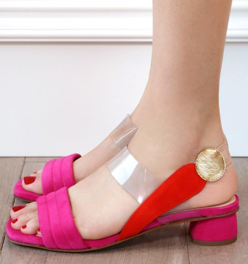 VOLUTA FUCSIA CHiE zapatos