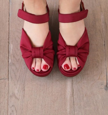 DR-DRAGA ALL RED CHiE MIHARA sandalias