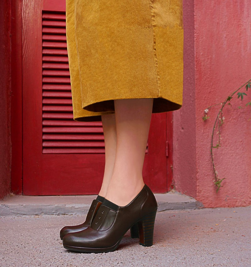 CEMITA DARK BROWN CHiE MIHARA zapatos