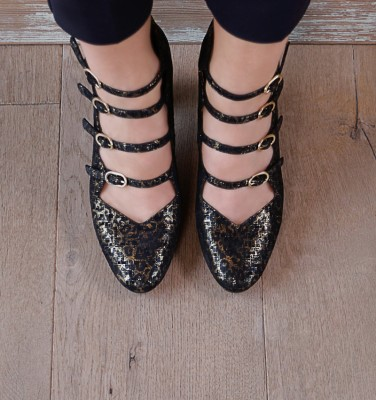 E-GREECE BLACK GOLD CHiE MIHARA zapatos