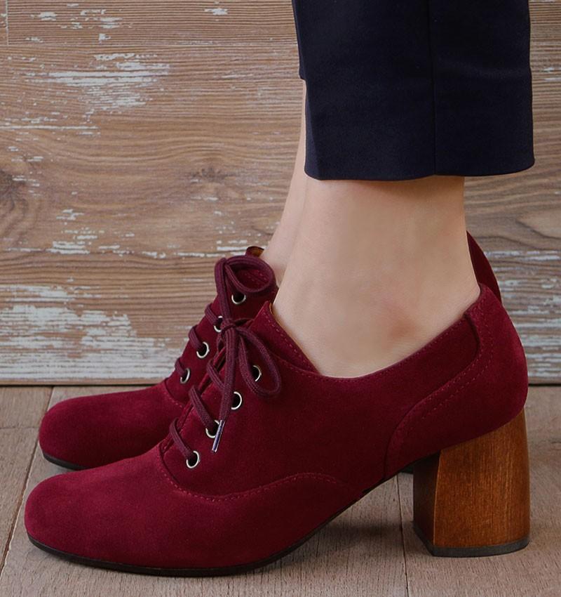 MISTA BURGUNDY CHiE MIHARA zapatos