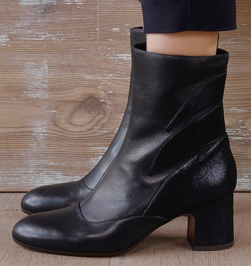 NITO NAVY boots CHiE MIHARA