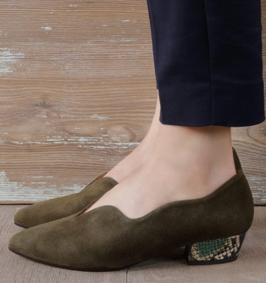 ROCAL DARK GREEN CHiE MIHARA zapatos
