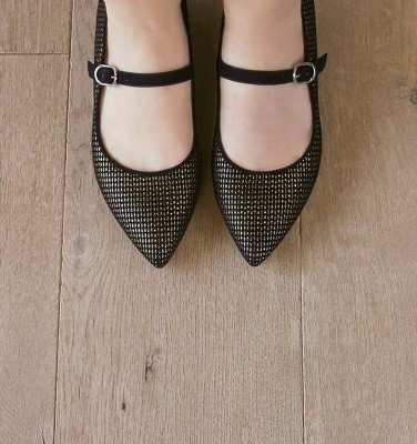 ROMA BLACK CHiE MIHARA shoes