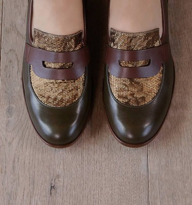 SABAS DARK GREEN CHiE MIHARA shoes
