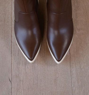 TELI DARK BROWN CHiE MIHARA boots