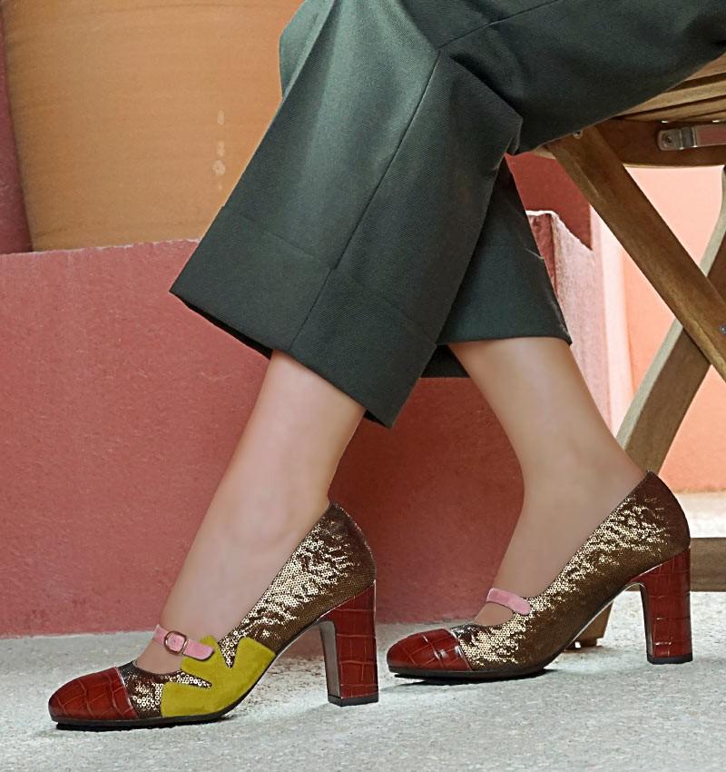 WEDAN REDDISH BROWN CHiE MIHARA zapatos