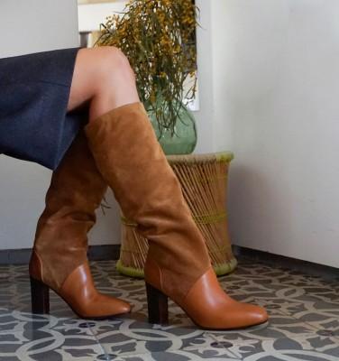 ELEANA COGNAC CHiE MIHARA botas