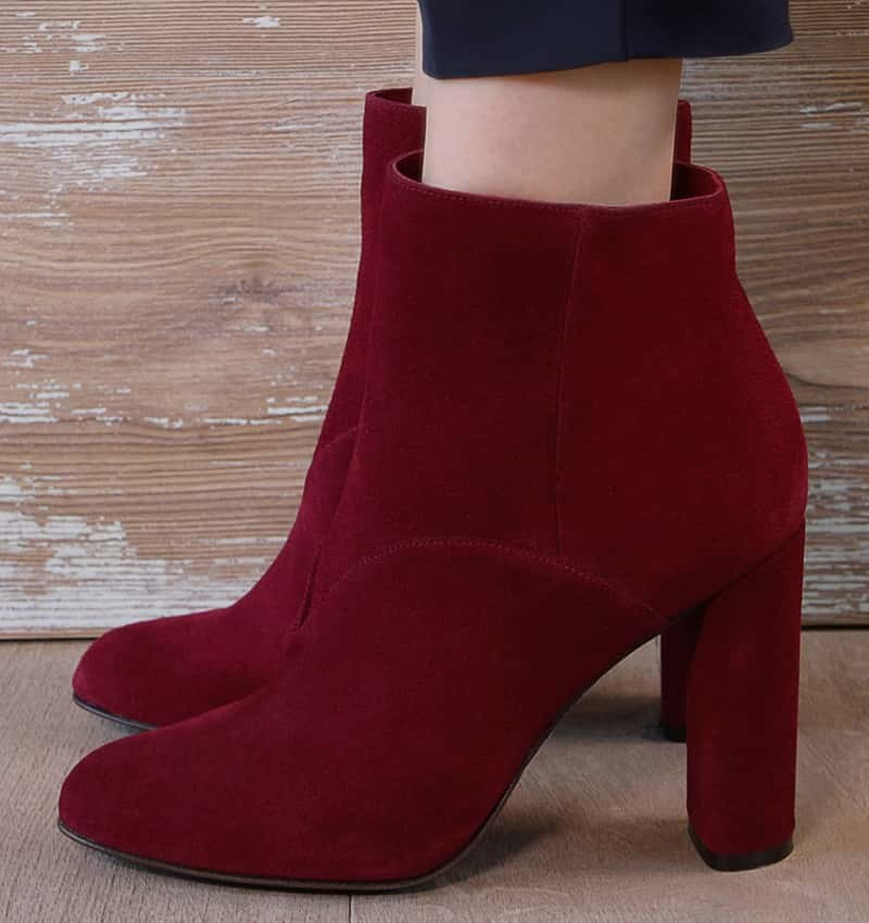 GONU BURGUNDY boots CHiE MIHARA