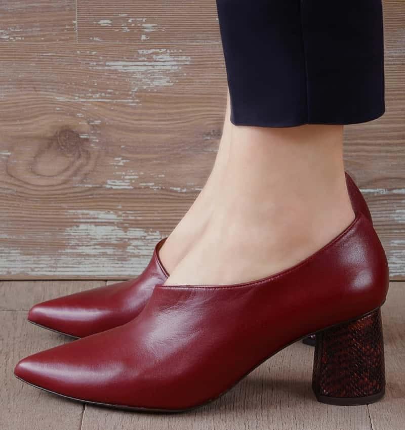 LOA BURGUNDY CHiE MIHARA zapatos