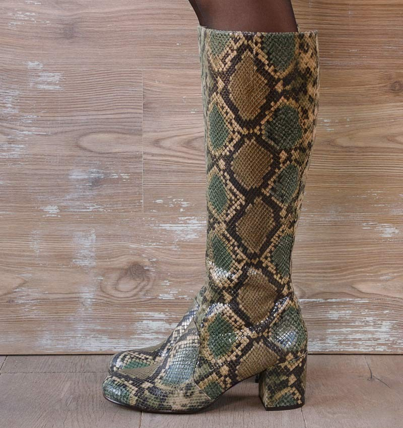 QUINCY DARK GREEN CHiE MIHARA boots