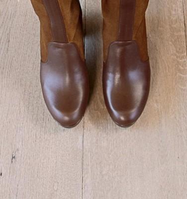 HERAL DARK BROWN CHiE MIHARA boots