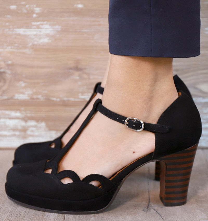 JOMAL BLACK CHiE MIHARA shoes