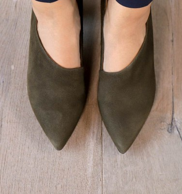 LOA DARK GREEN SUEDE CHiE MIHARA shoes