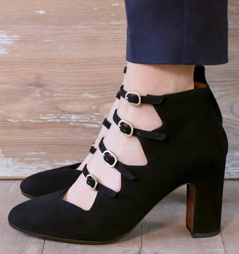 E-GREECE BLACK CHiE MIHARA shoes