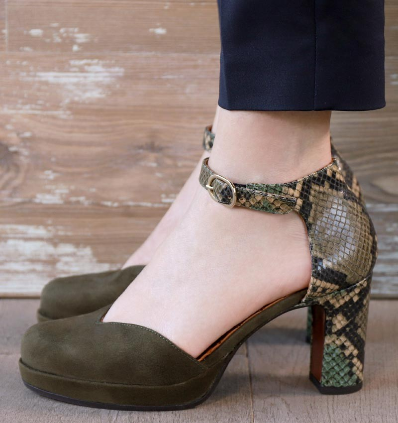JO-MAHO DARK GREEN CHiE MIHARA shoes