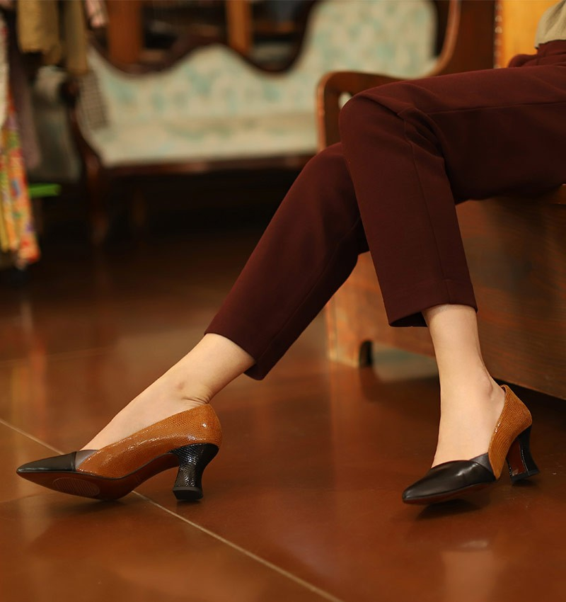 VOLKA COGNAC CHiE MIHARA chaussures