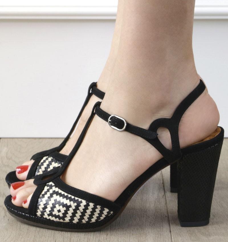 ABAL BLACK CHiE MIHARA sandales