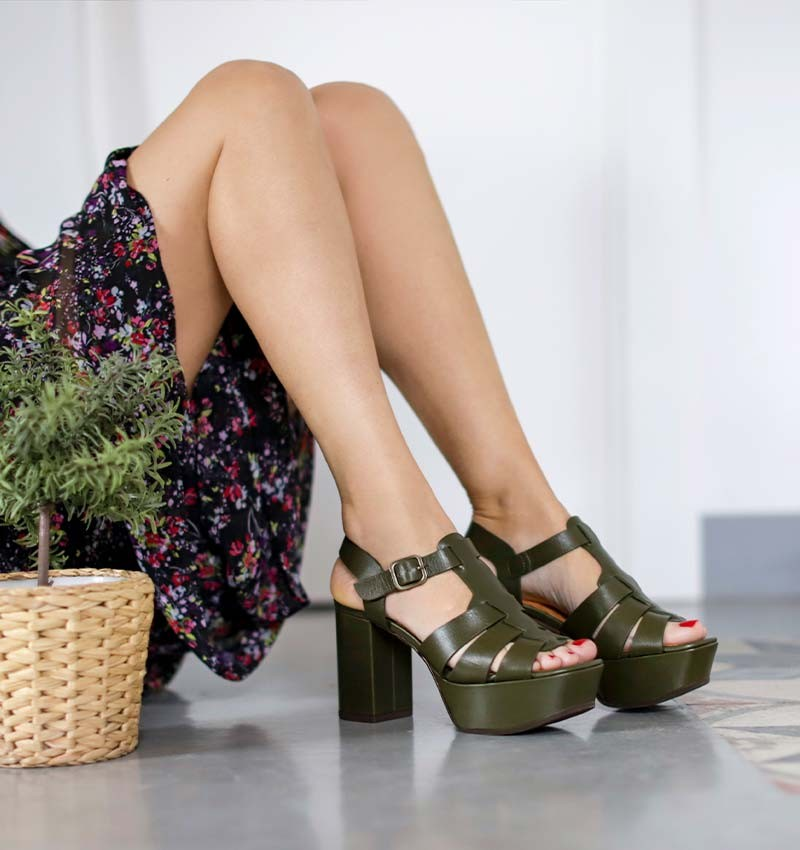 DARLI DARK GREEN CHiE MIHARA sandals