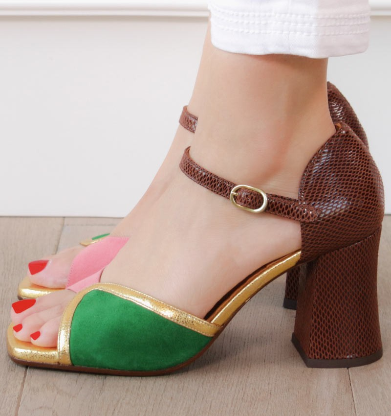 PETUN BROWN CHiE MIHARA sandals