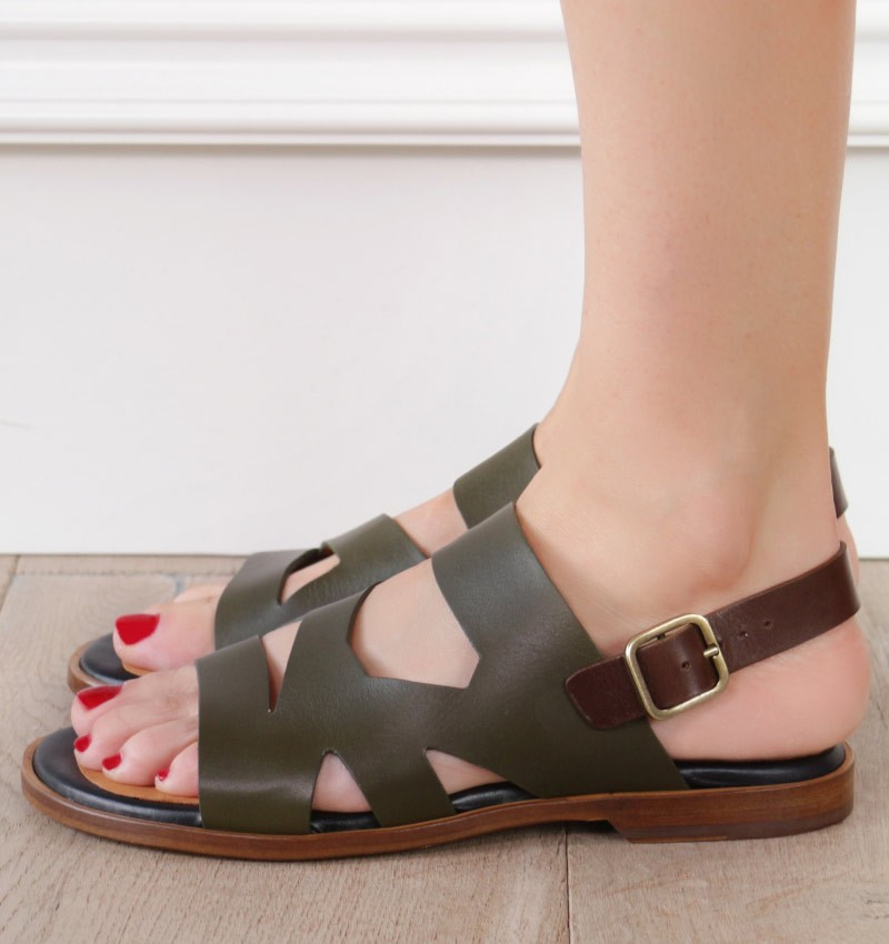 WANDIS DARK GREEN CHiE MIHARA sandals