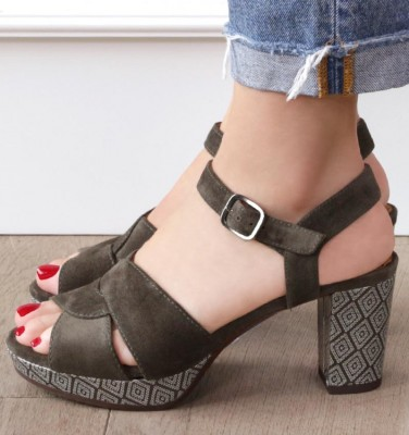 NA-DIBE DARK GREEN CHiE MIHARA sandals
