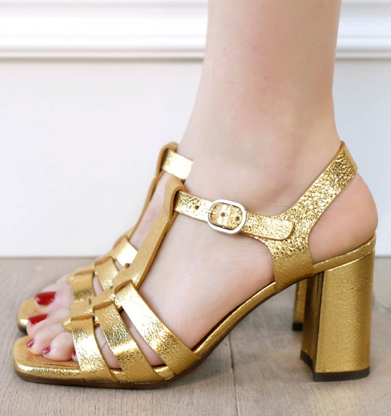 ZAZ GOLD CHiE MIHARA sandals
