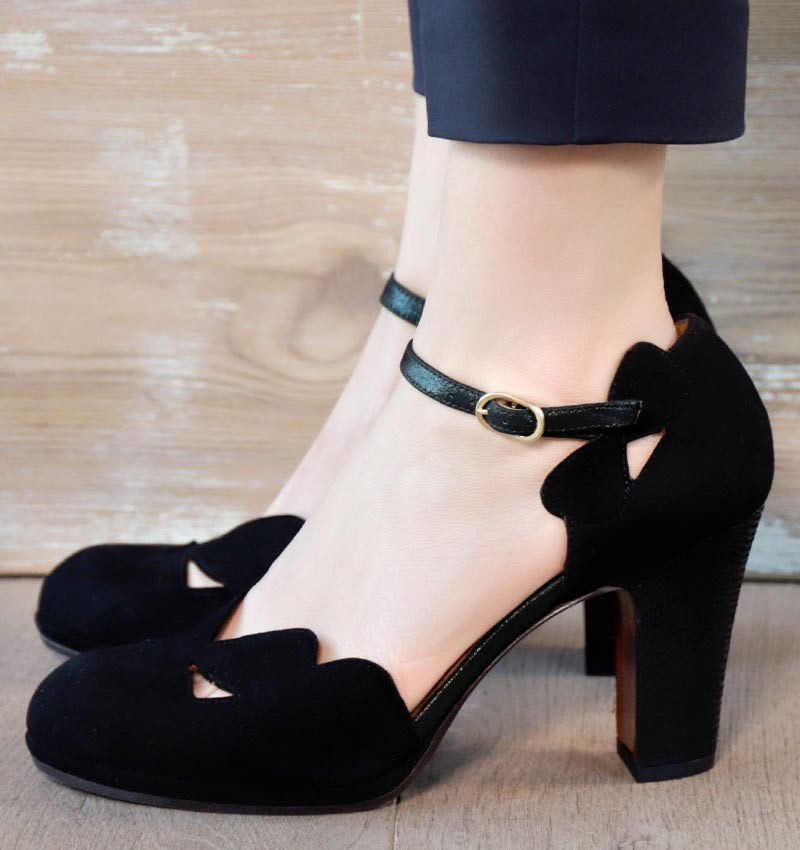 CEMIL BLACK & GREEN CHiE MIHARA chaussures