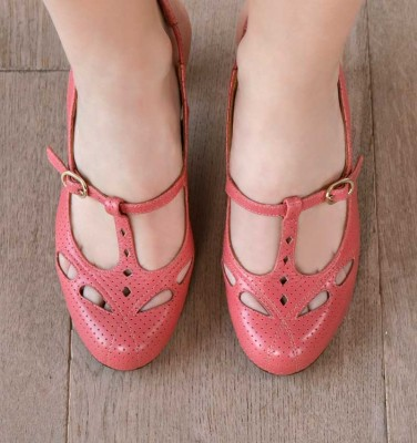 KUCO CHERRY PINK CHiE MIHARA shoes