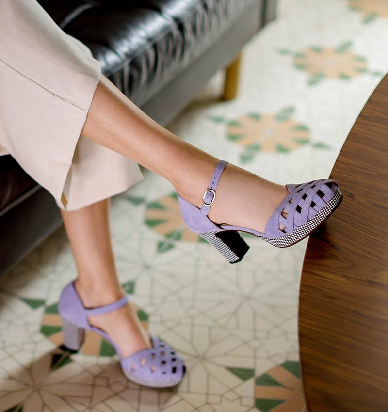 MA-IRMA LAVENDER CHiE MIHARA sandals