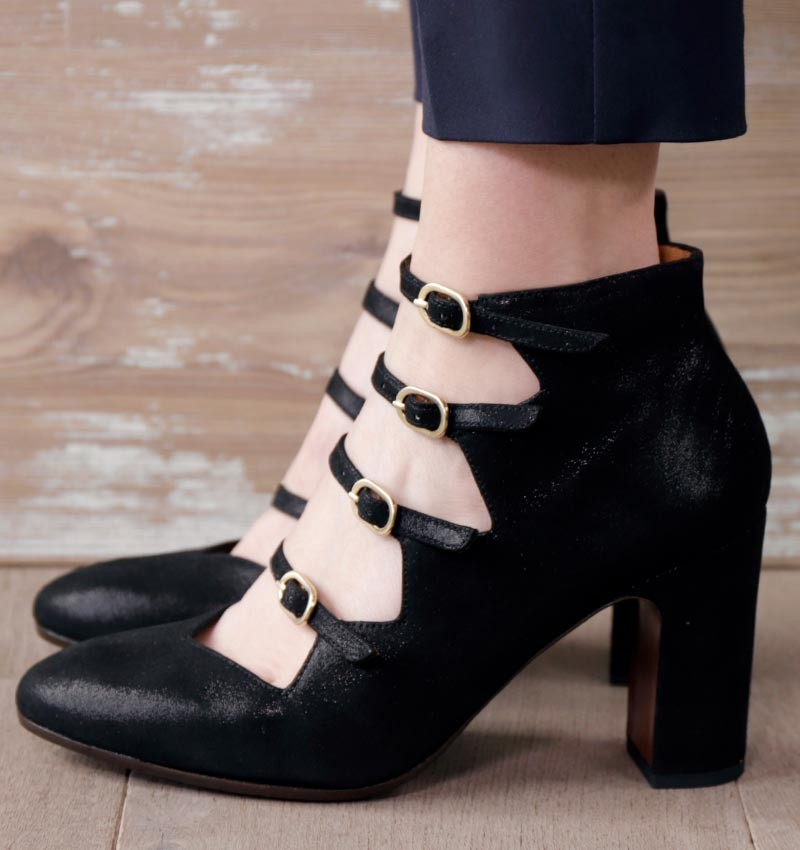 E-GREECE LAME BLACK CHiE MIHARA chaussures
