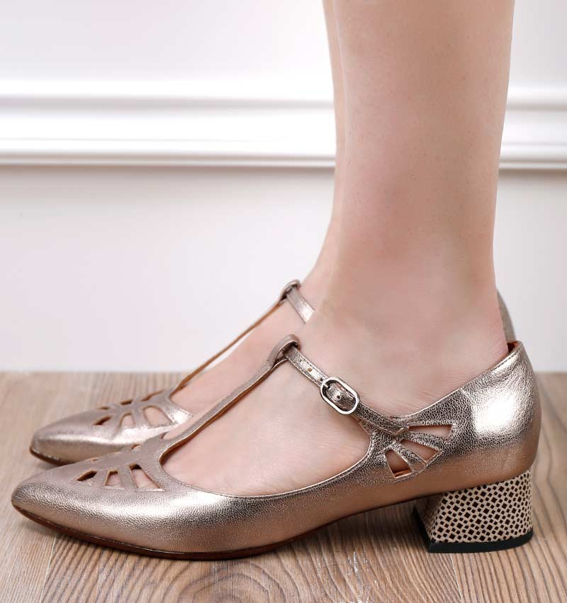 RUT SILVER BLACK CHiE MIHARA shoes