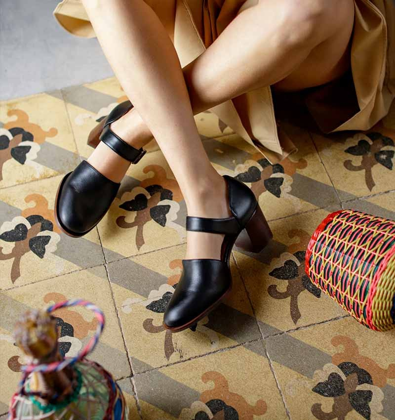 TUBAL BLACK CHiE MIHARA chaussures