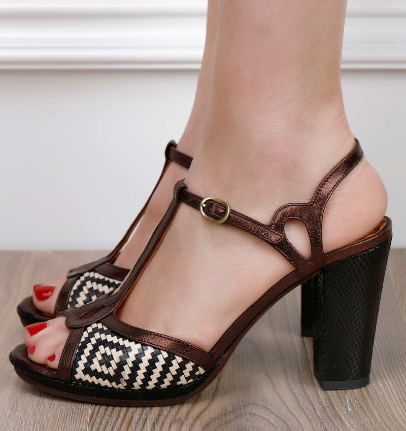 ABAL BLACK COFFE CHiE MIHARA sandals