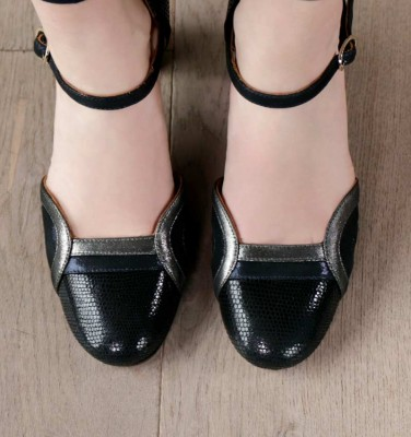 WIMO BLACK NAVY CHiE MIHARA chaussures