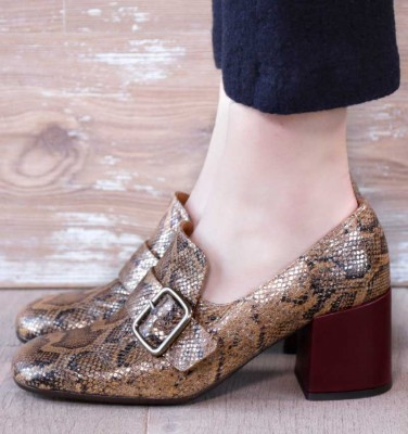 URCHIN BROWN CHiE MIHARA shoes