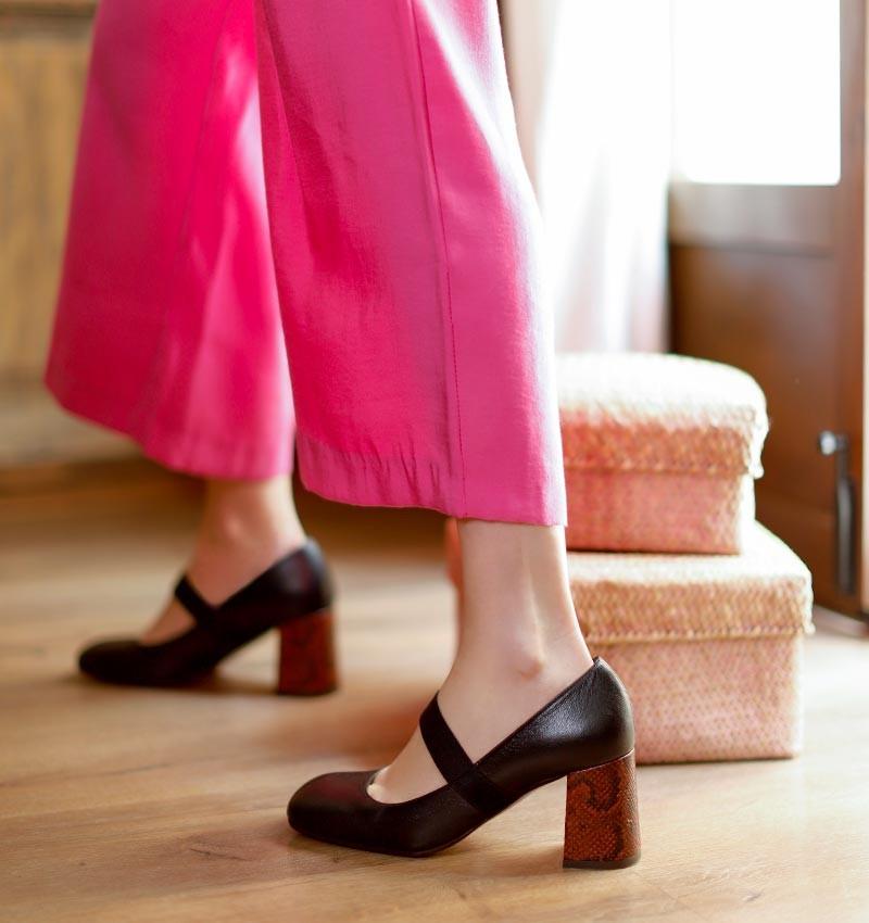 PEZ BLACK CHiE MIHARA zapatos